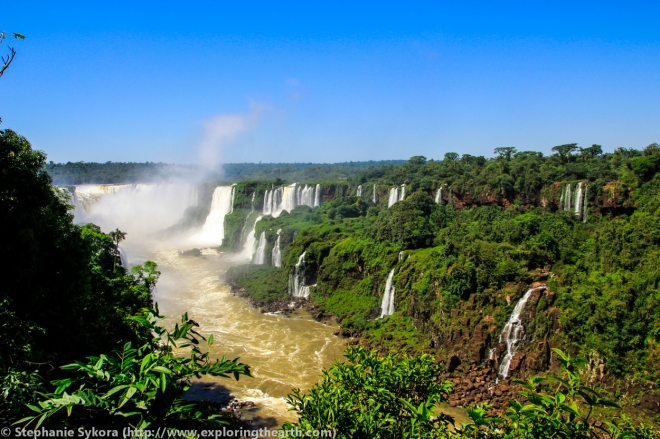 Iguazu Iguassu Iguasu Falls Brazil Rainforest Waterfalls adventure travel 7 wonders of world South America