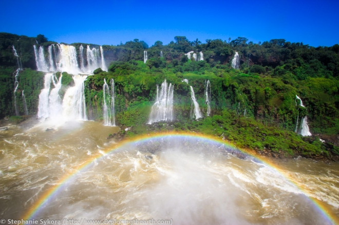 Iguazu Iguassu Iguasu Falls Brazil Rainfores Waterfalls rainbow adventure travel 7 wonders of world South America