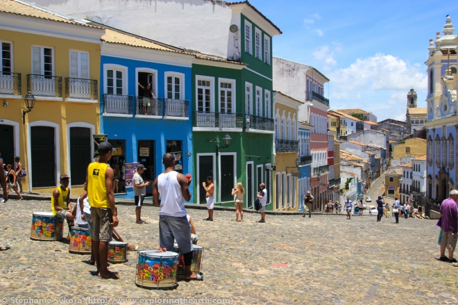 Pelourinho Salvador Brazil colourful buildings culture travel South America