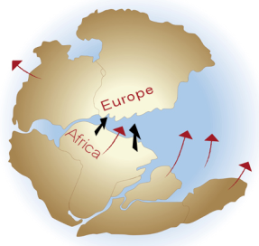 Plate Tectonics Europe Collision Africa Switzerland Alps Formation