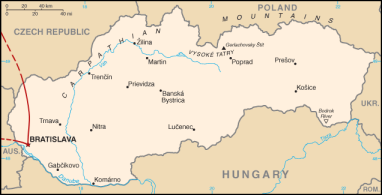 Slovakia Map Blog Castle Europe Eastern Bratislava Travel Adventure