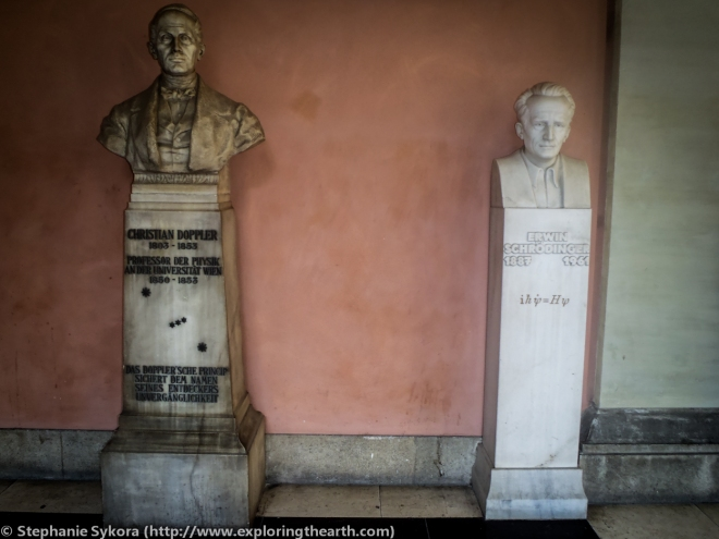 Erwin Schrodinger, Christian Doppler, Memorial, Vienna University, Travel, Vienna, Science, Scientists, Austria