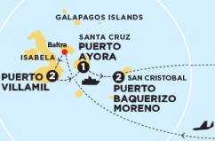 Map, Galapagos, Contiki, Islands