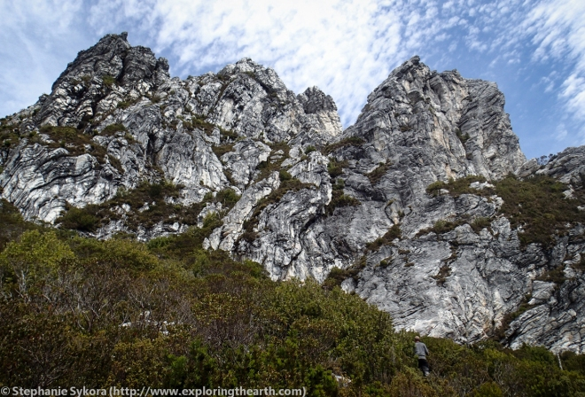 Frenchman's Cap in the Franklin-Gordon Wild Rivers National Park - Tasmania, Australia, Quartzite, Bedding Folds, S1
