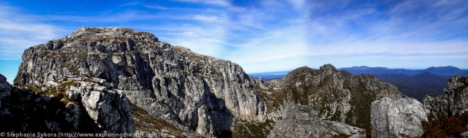 Tasmania, Australia, Frenchman's Cap, Frenchies, Franklin-Gordon Wild Rivers National Park, Bushwalking, Hiking, Camping, Adventure, Geology, Mountain, Quartzite, Folds, Peaks, Travel, Photography, Panorama